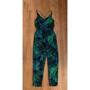 Topshop Pants - Topshop Palm Leaf Print Jumpsuit